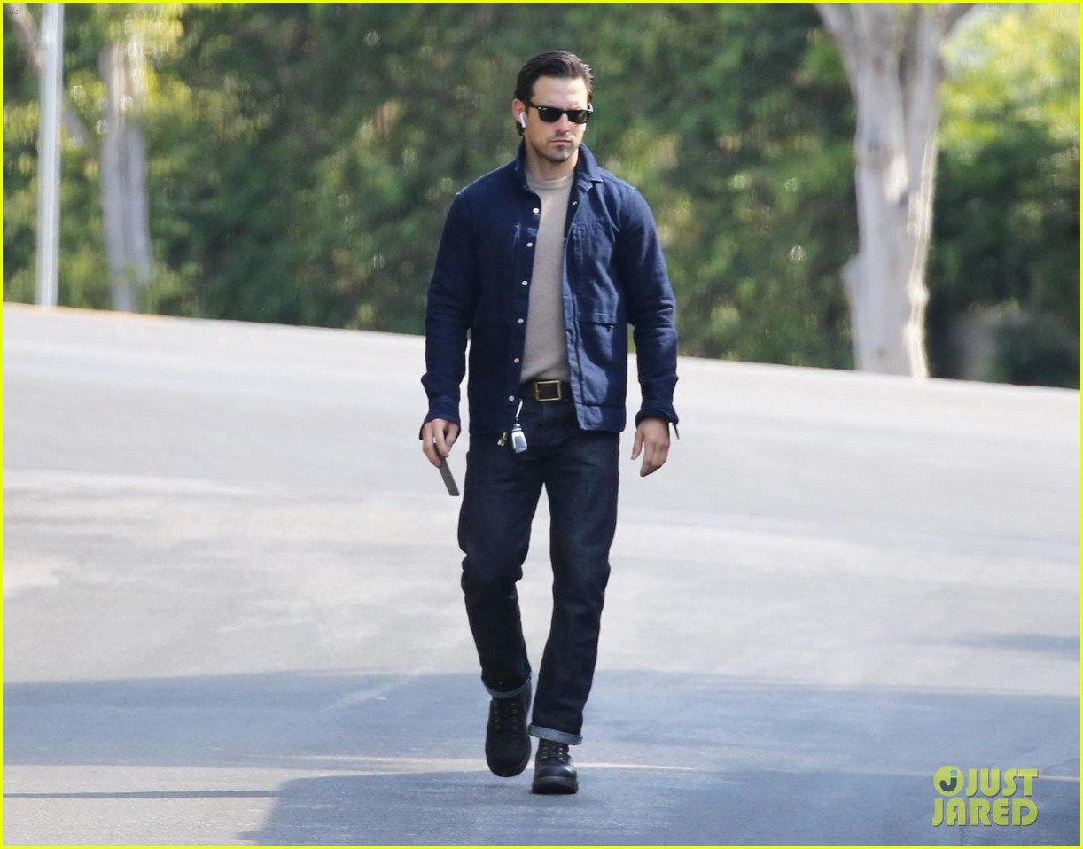 milo ventimiglia steps out clean shaven after wrapping this is us filming 024040980