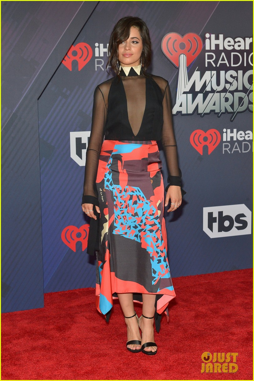 Camila Cabello Walks The Iheartradio Music Awards 2018 Red