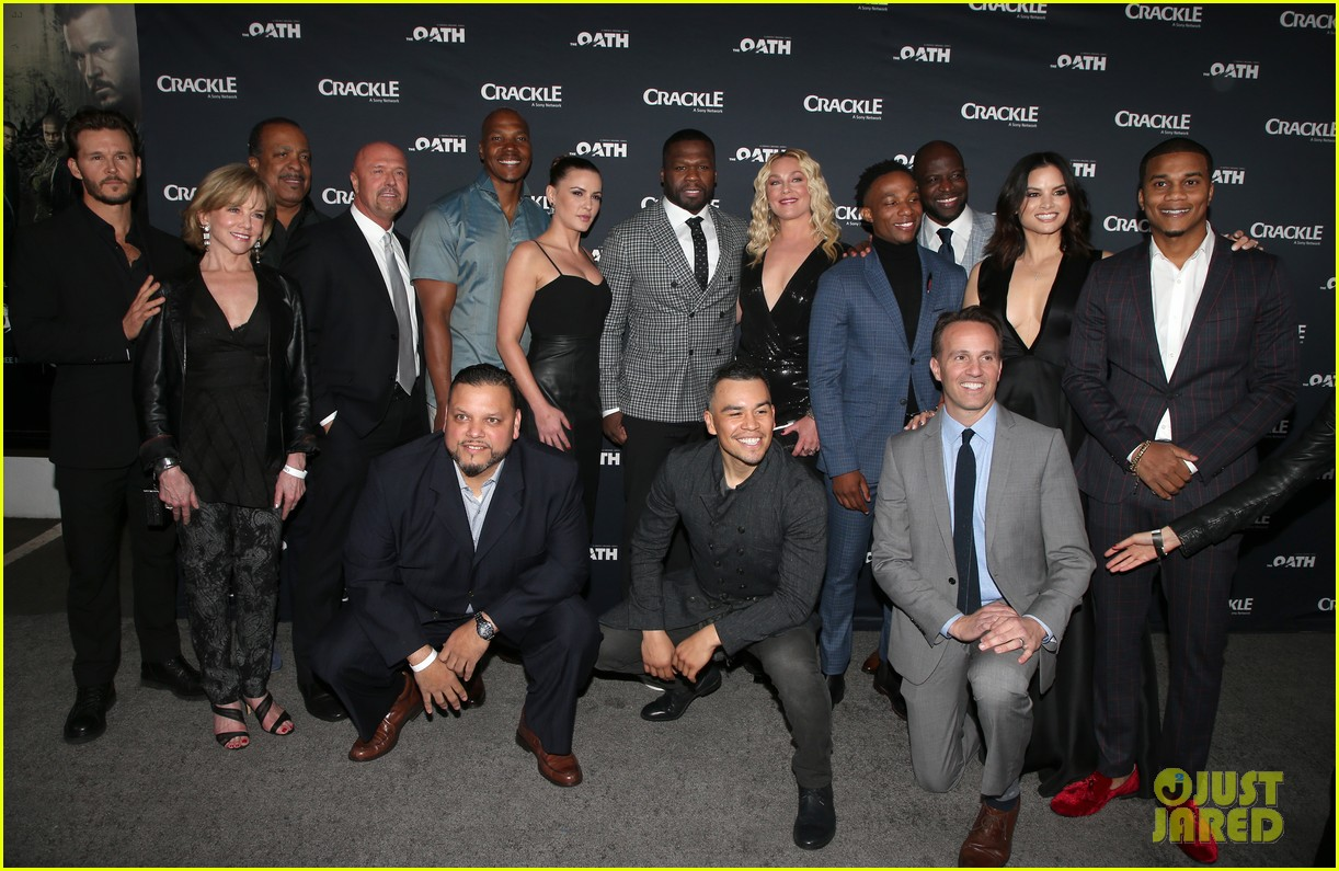 50 cent supports ryan kwanten the oath cast at l a premiere 01
