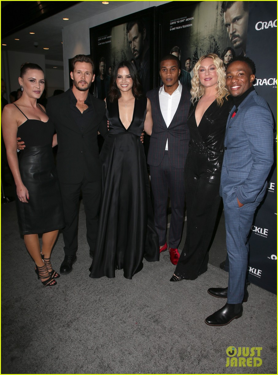 50 cent supports ryan kwanten the oath cast at l a premiere 05