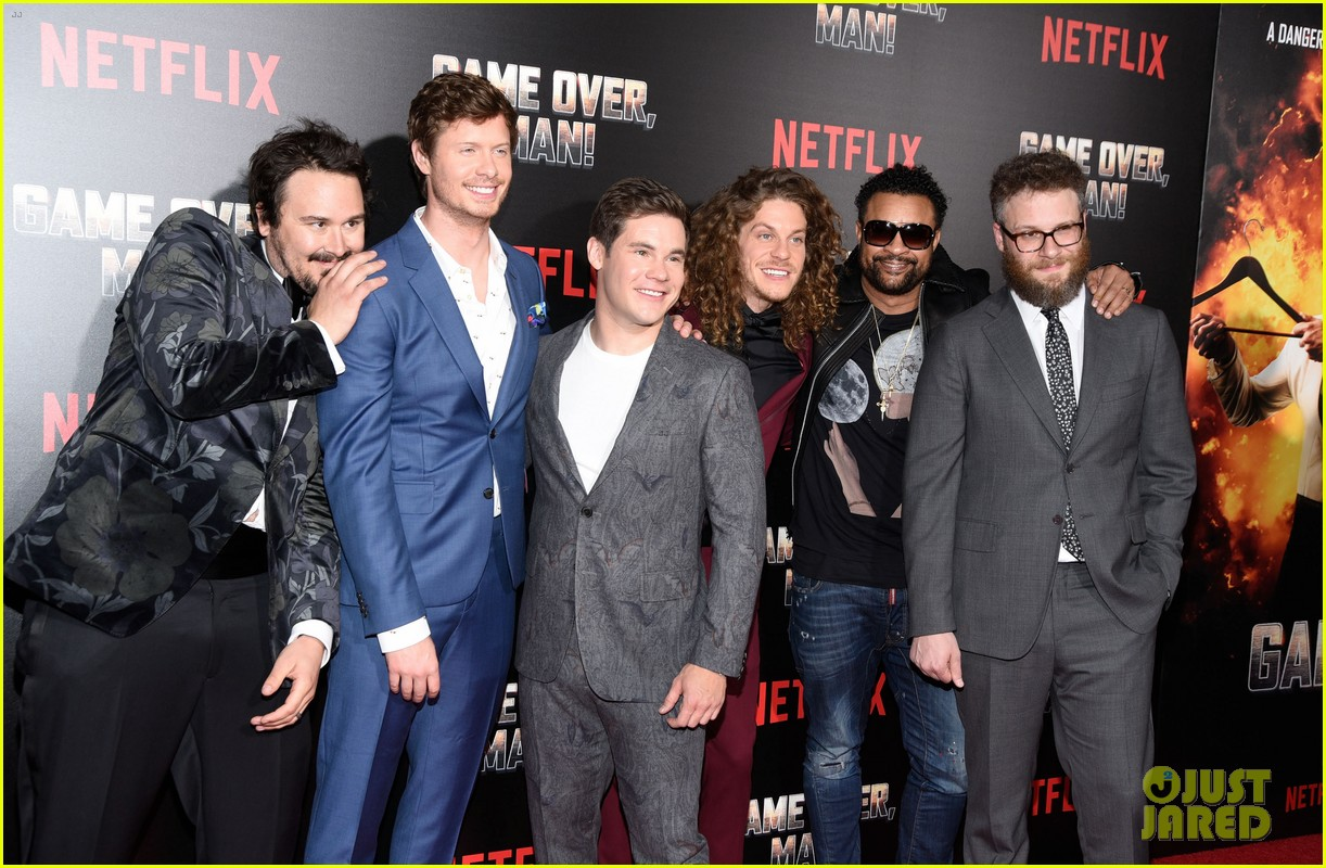 anders holm adam devine blake anderson premiere new netflix film game over man 024054097