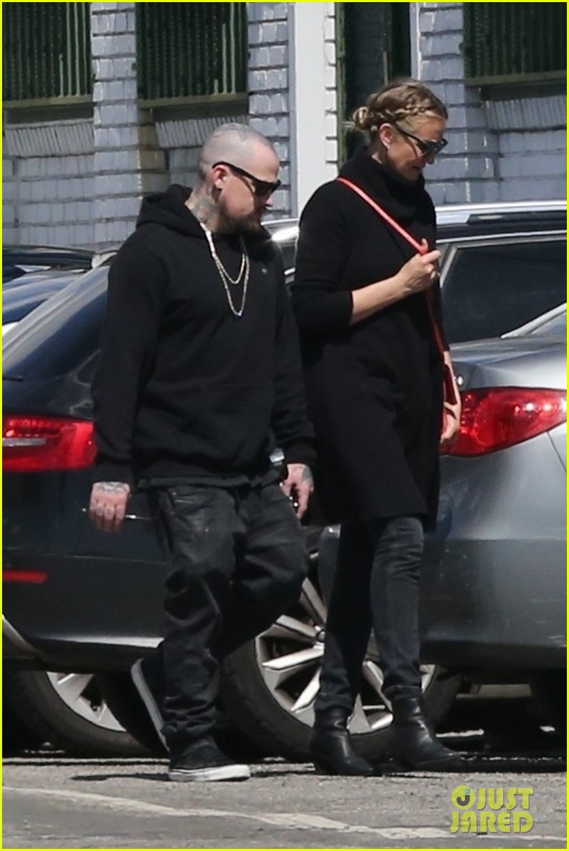 cameron diaz benji madden head to a party in la 034052137