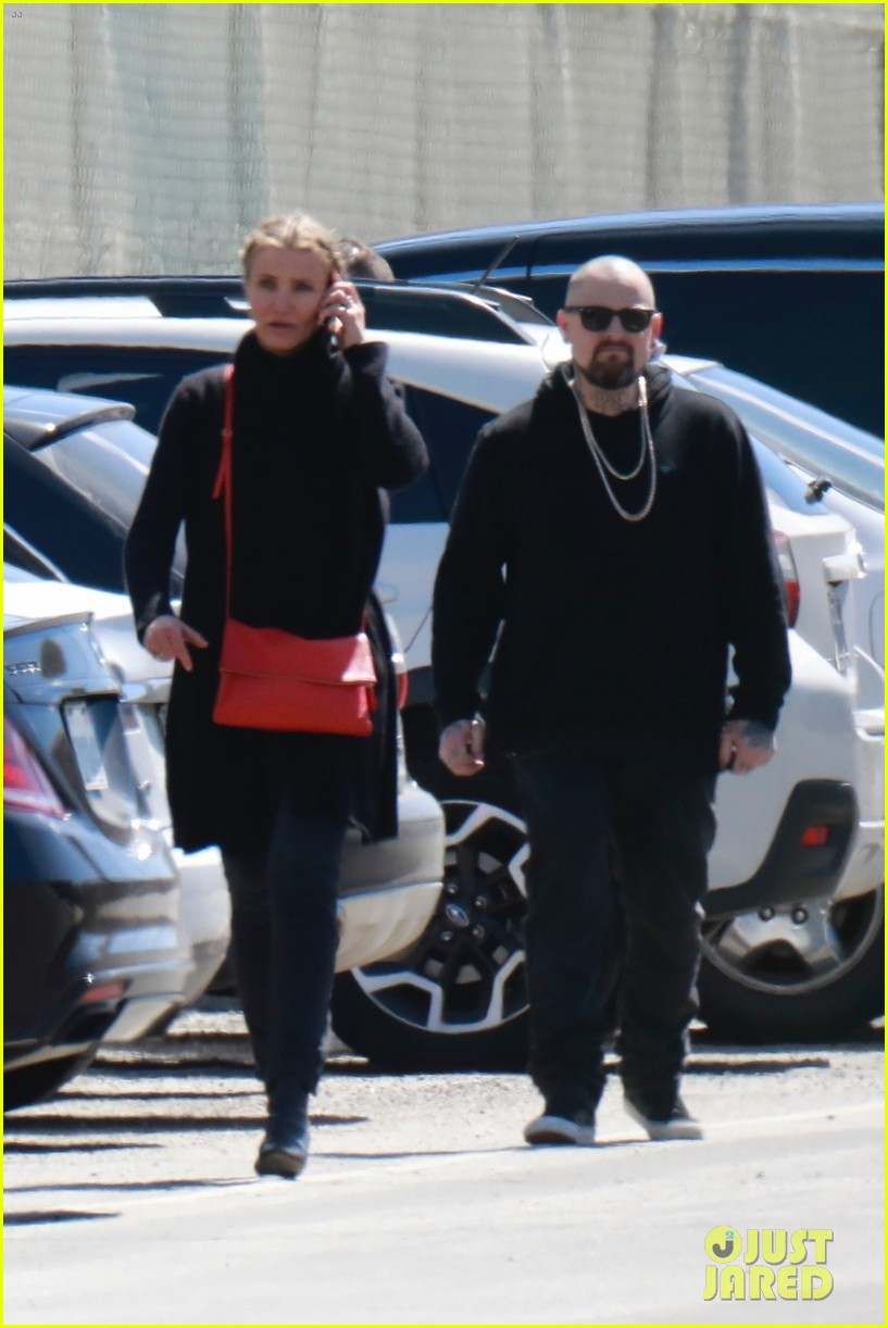 cameron diaz benji madden head to a party in la 054052139