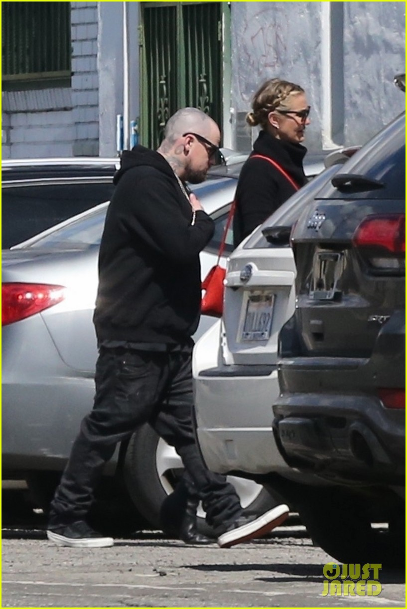 cameron diaz benji madden head to a party in la 074052141