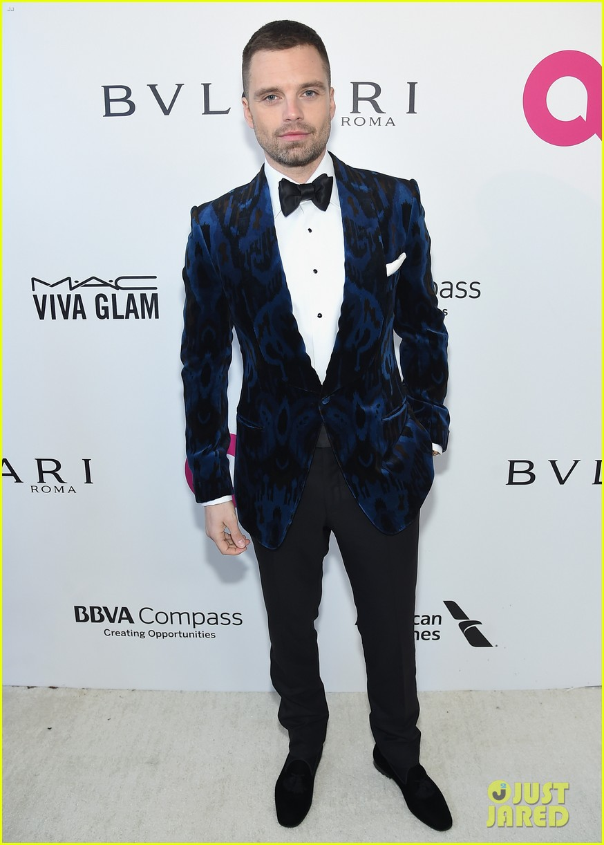 sebastian stan aaron taylor johnson look dapper at elton john oscars party 074044937