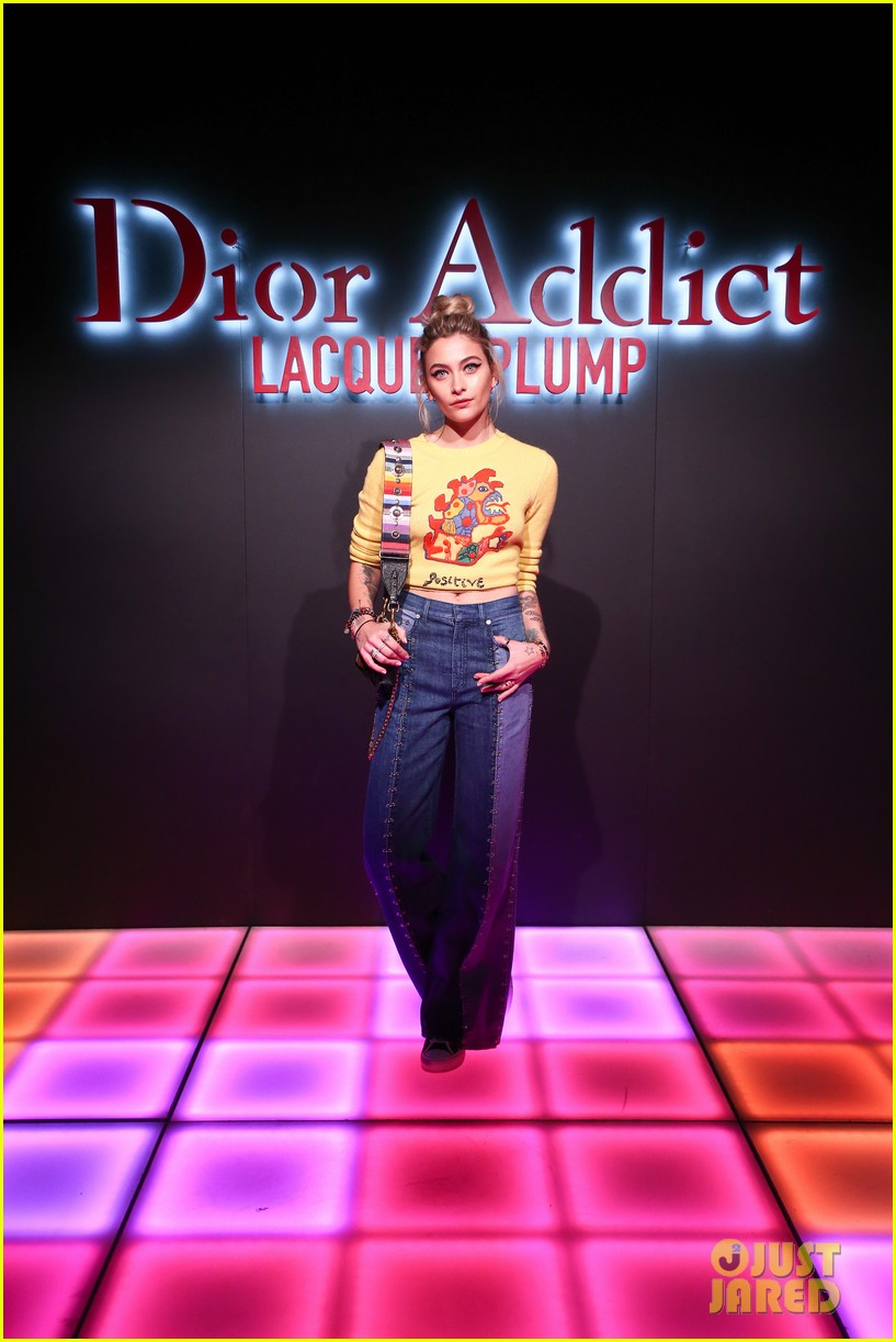 bella hadid natalia dyer charlie heaton celebrate dior addict lacquer plump launch 014051050
