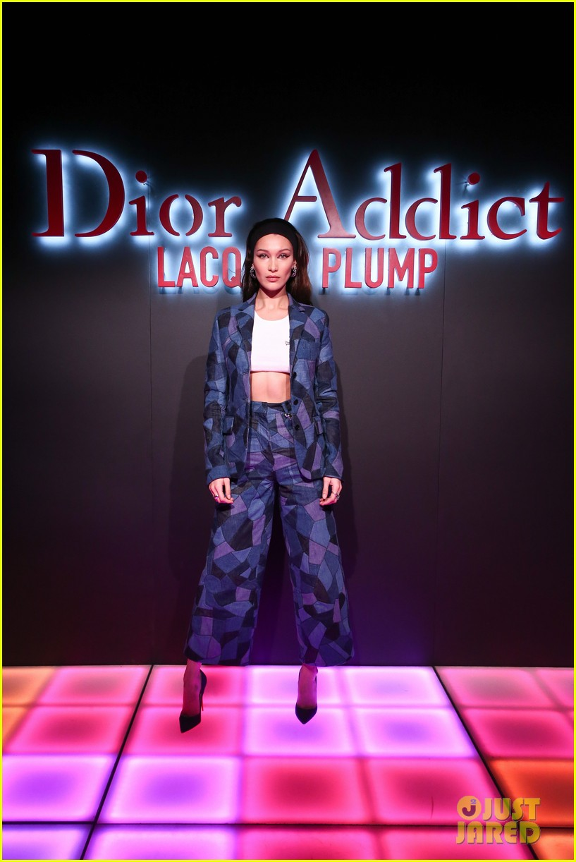 bella hadid natalia dyer charlie heaton celebrate dior addict lacquer plump launch 044051053