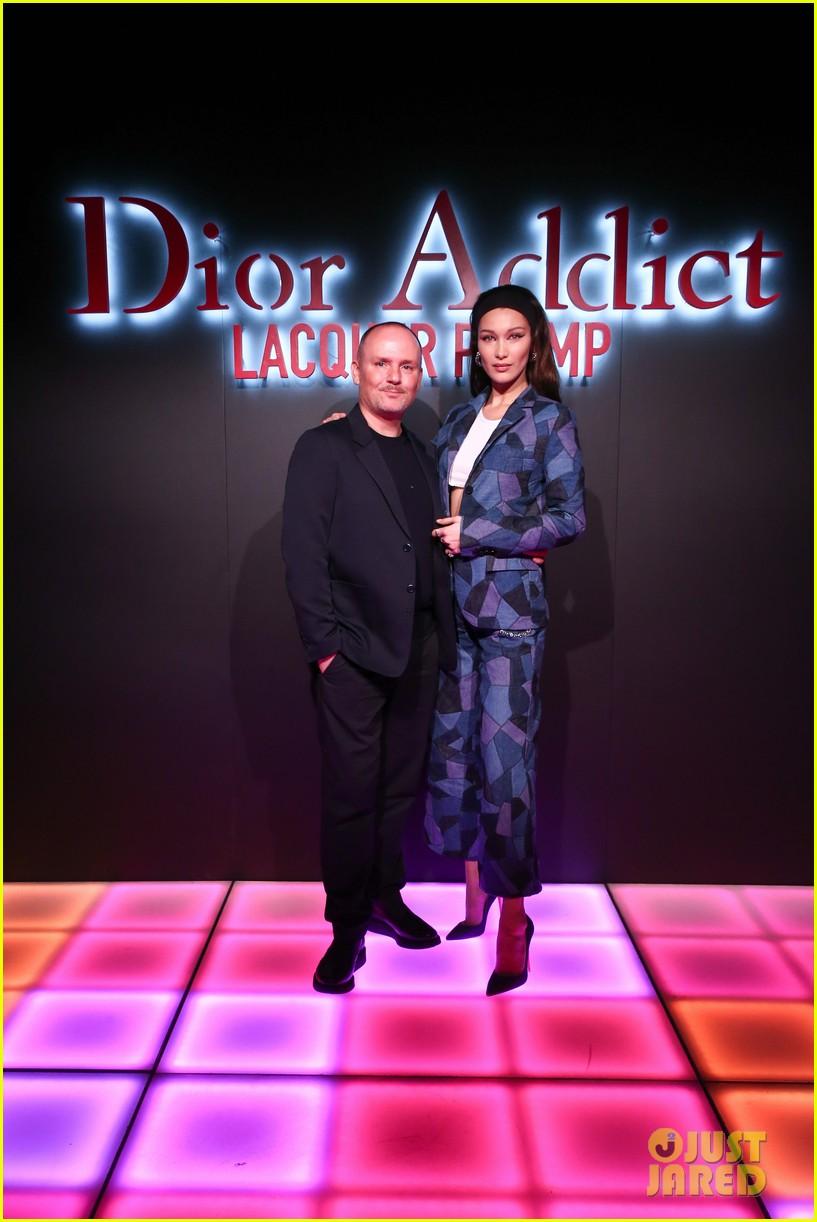 bella hadid natalia dyer charlie heaton celebrate dior addict lacquer plump launch 134051062