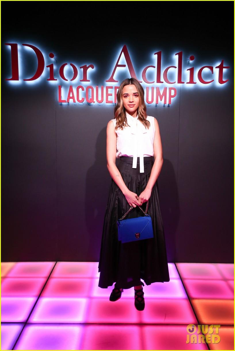 bella hadid natalia dyer charlie heaton celebrate dior addict lacquer plump launch 194051068