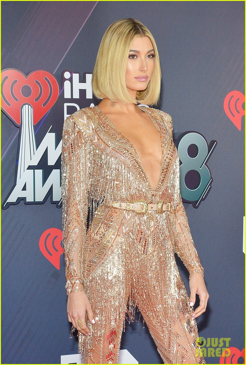 hailey baldwin iheartradio awards 2018 024049129