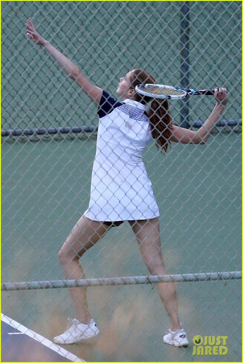 jon hamm plays tennis with a mystery female friend 114056867