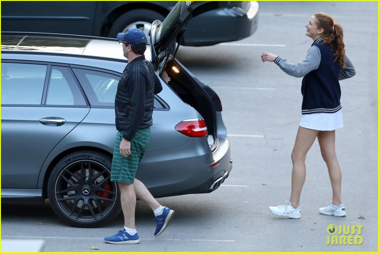 jon hamm plays tennis with a mystery female friend 174056873