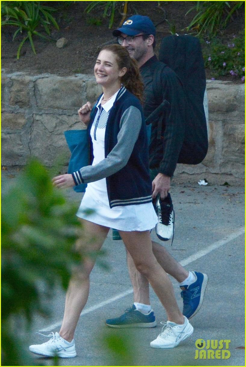 jon hamm plays tennis with a mystery female friend 194056875