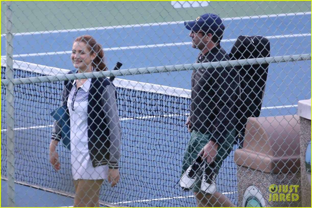 jon hamm plays tennis with a mystery female friend 214056877