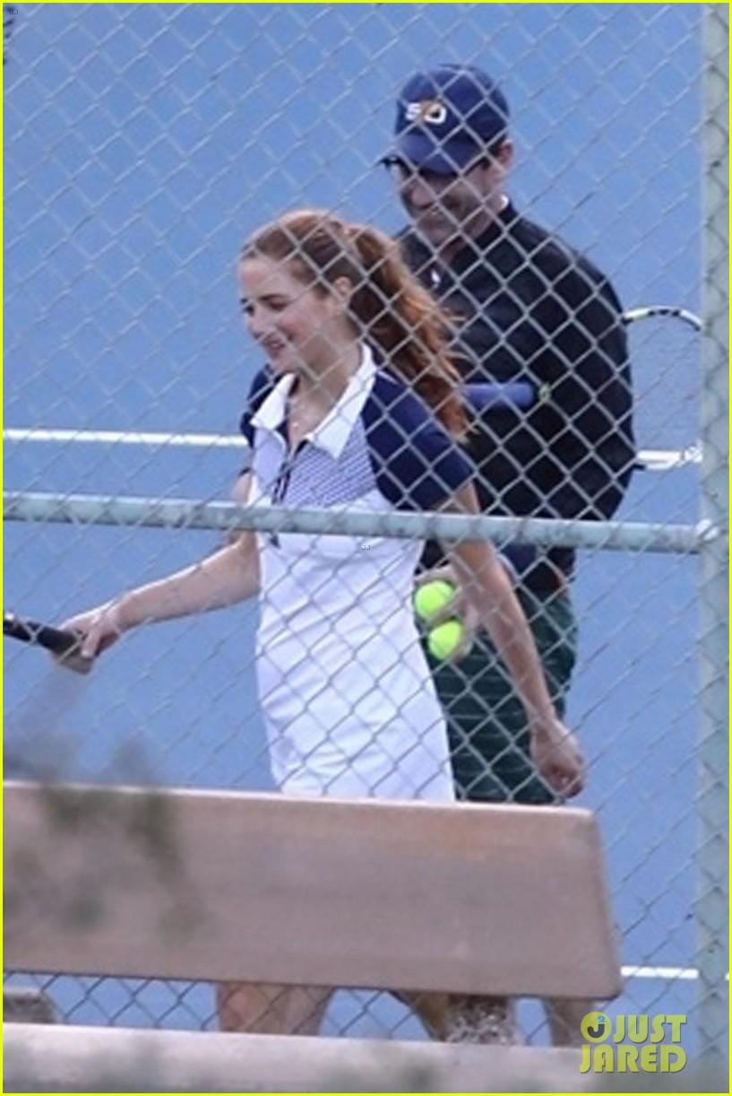jon hamm plays tennis with a mystery female friend 254056881