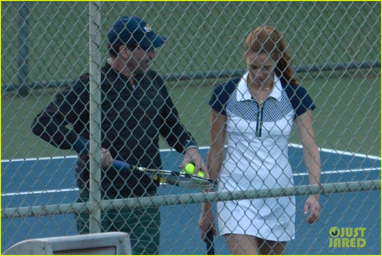 jon hamm plays tennis with a mystery female friend 284056884