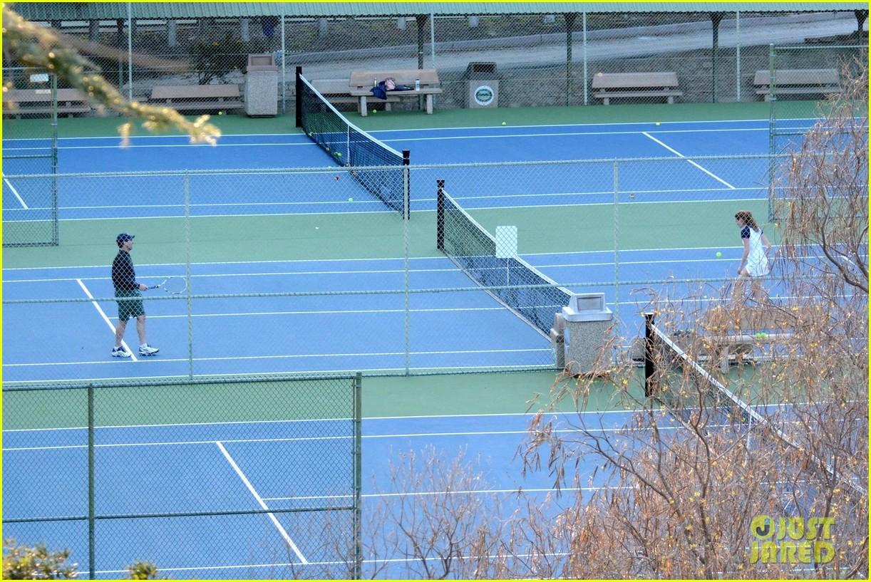 jon hamm plays tennis with a mystery female friend 314056887