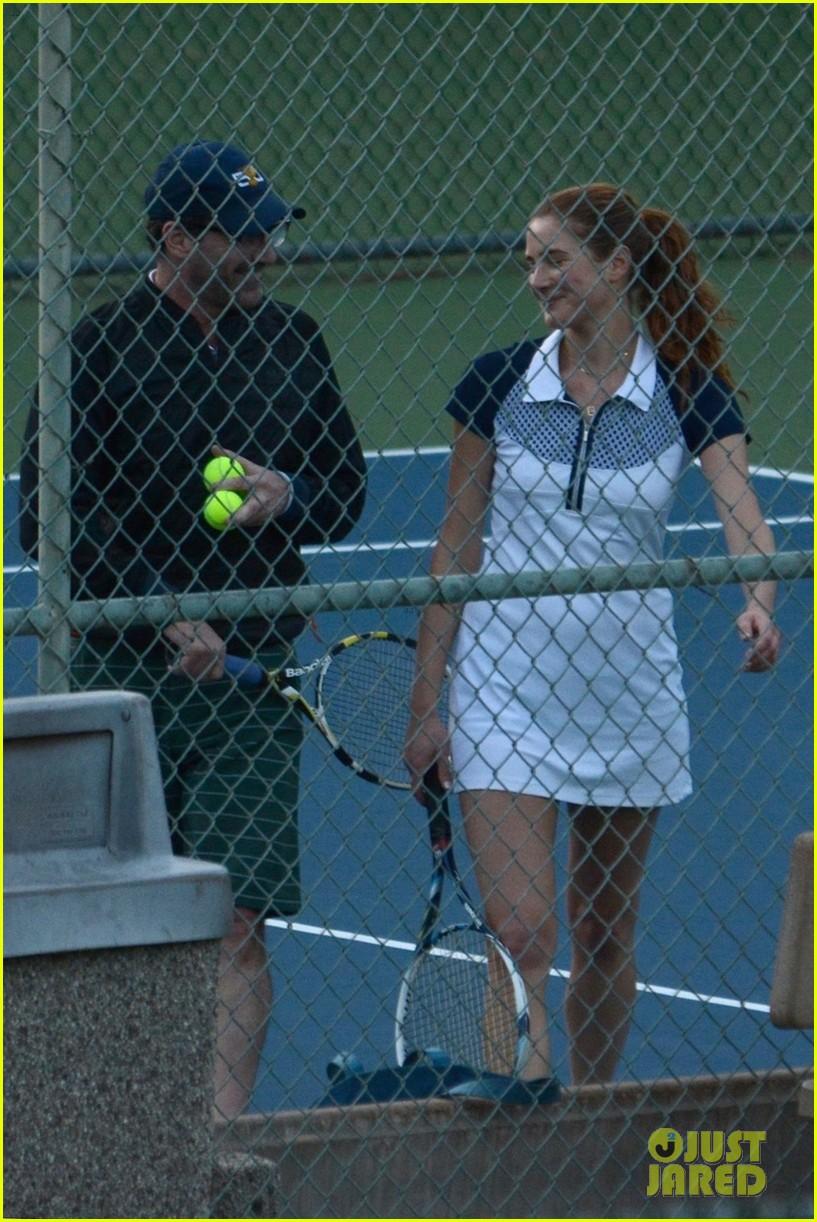 jon hamm plays tennis with a mystery female friend 324056888