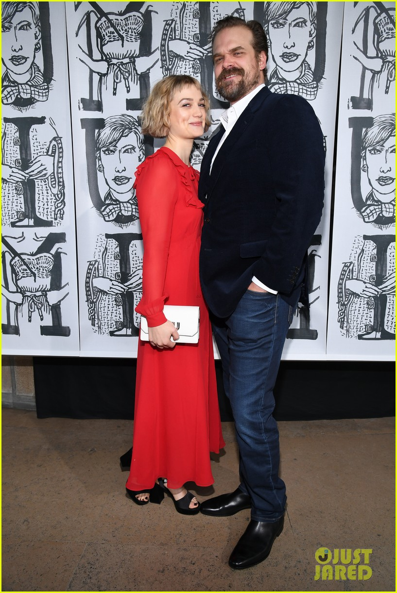 david harbour amp girlfriend alison sudol couple up at miu
