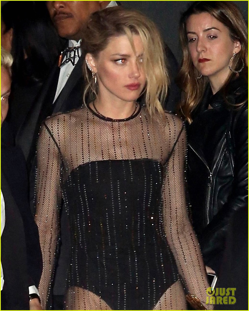 amber heard wears sheer gown at oscars after party 014046875