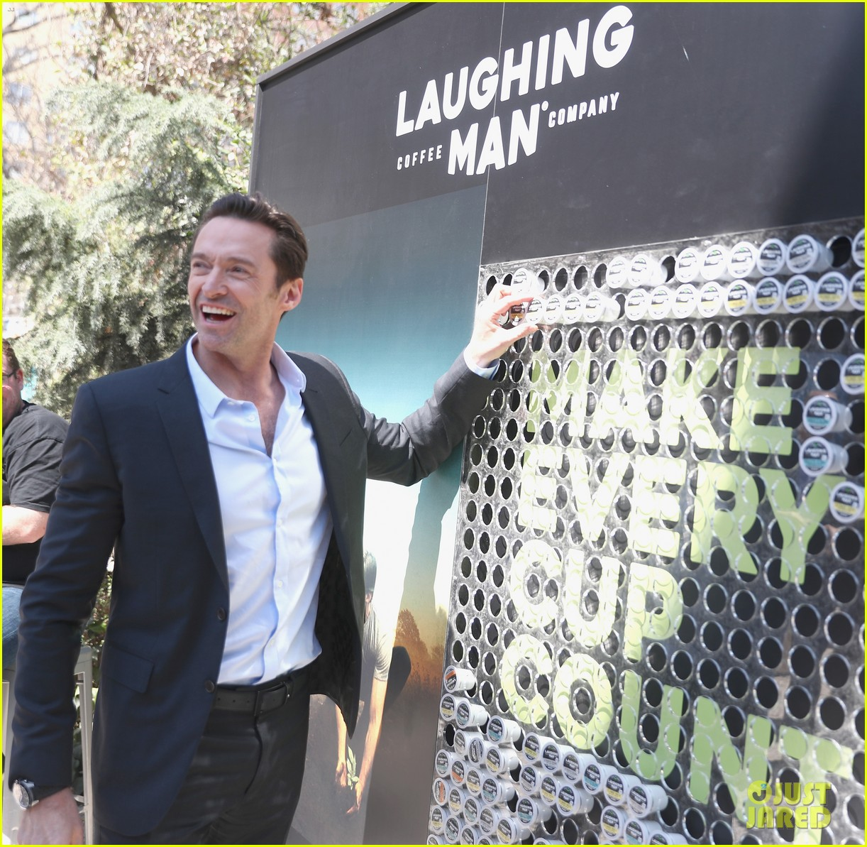 Hugh Jackman Laughing Man Coffee Want You To Make Every Cup Count