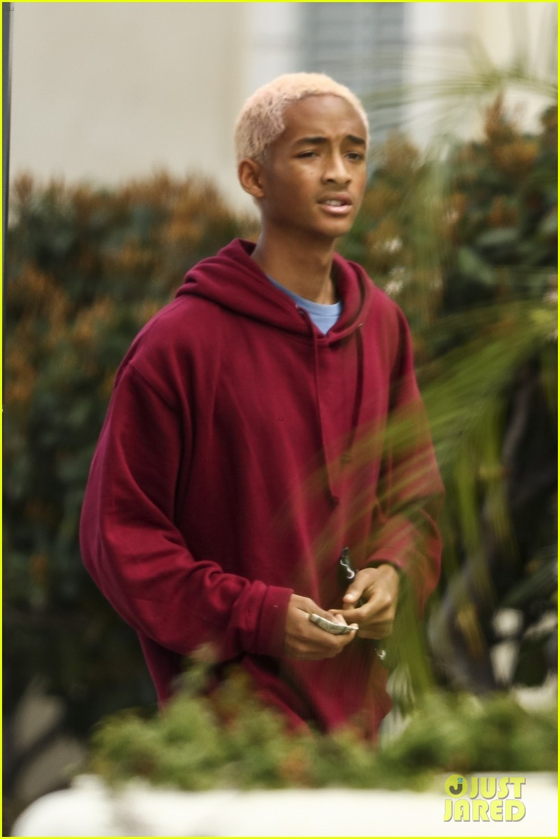 Jaden Smith Sports Strawberry Blonde Hair While Hanging In