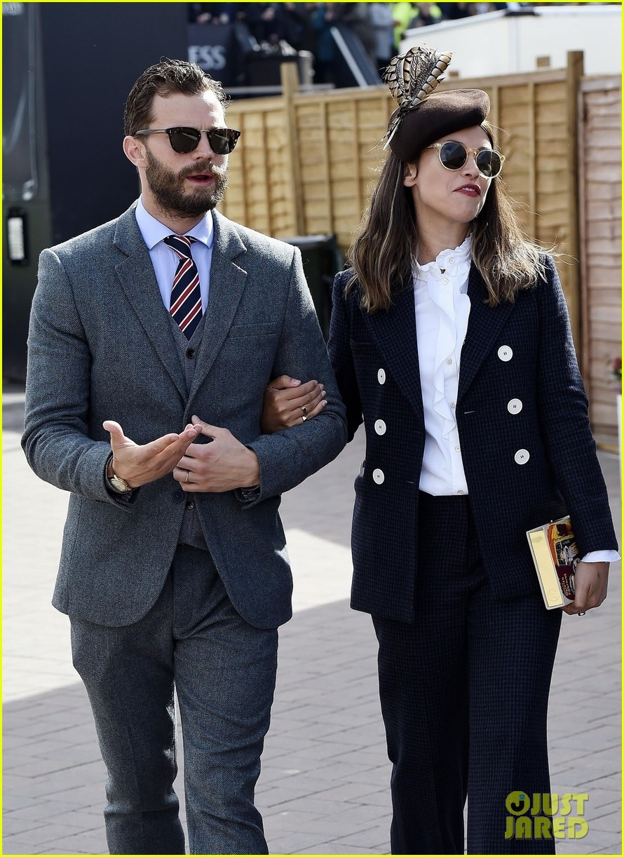 jamie dornan amp wife amelia warner attend cheltenham 2018