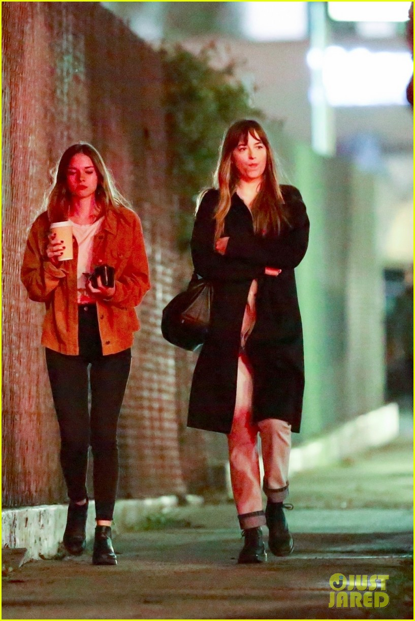 dakota johnson grabs dinner with friends in weho 034043390