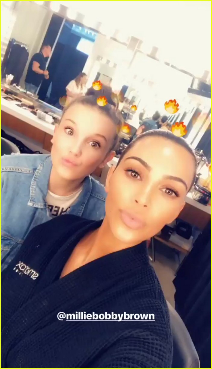 kim kardashian millie bobby brown good friday 014058395