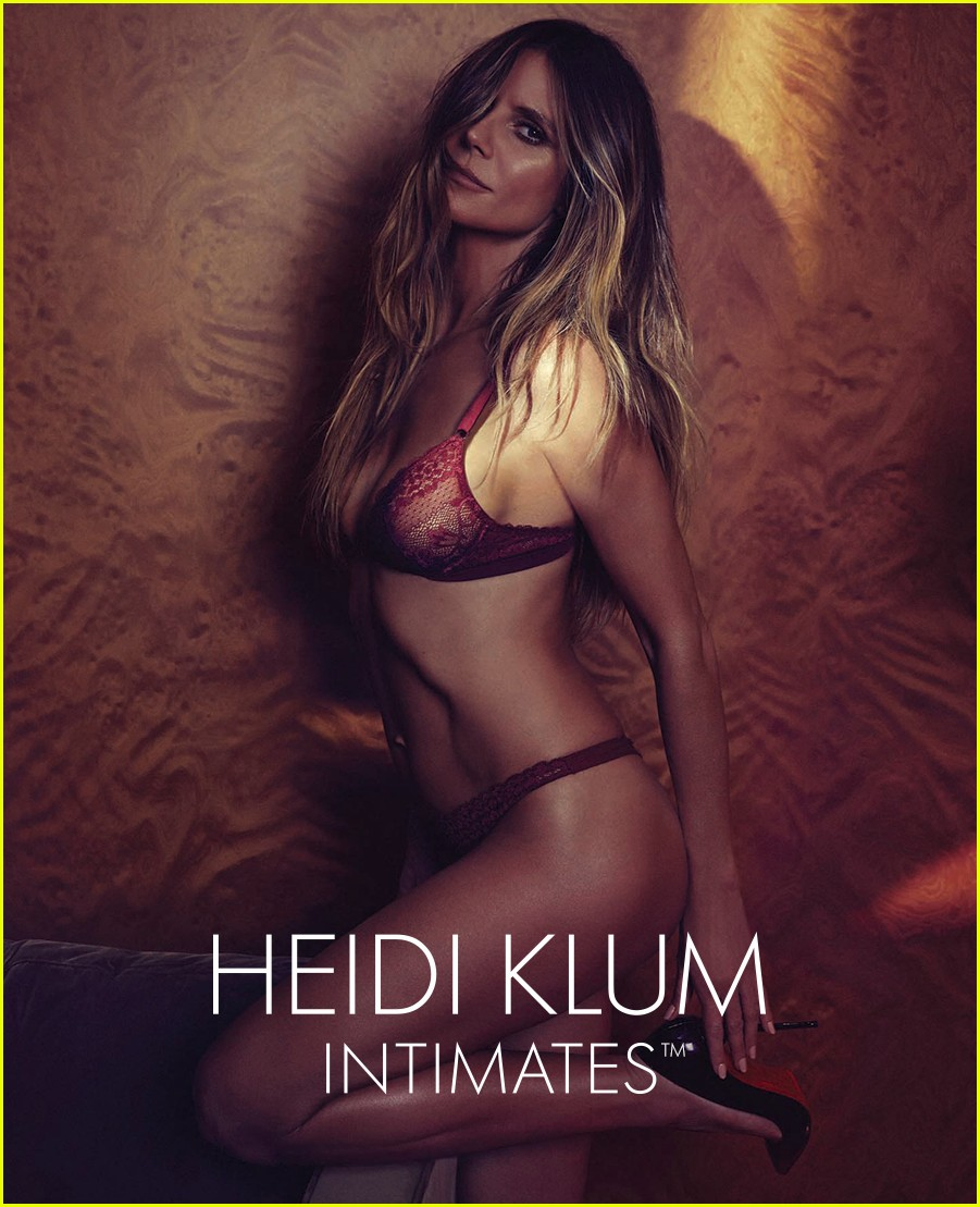 Heidi Klum Models Her Lingerie Line for New Campaign Pics!  Photo ... db27c2f42