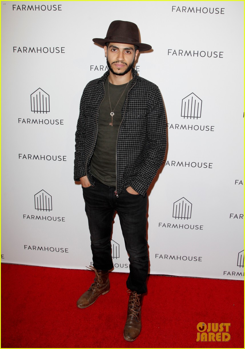 annalynne mccord mena massoud lance bass step out for farmhouse l a grand opening 034051605