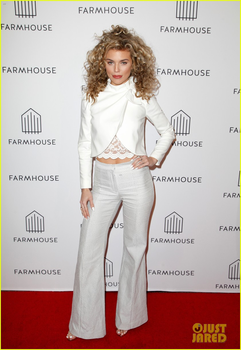 annalynne mccord mena massoud lance bass step out for farmhouse l a grand opening 184051620