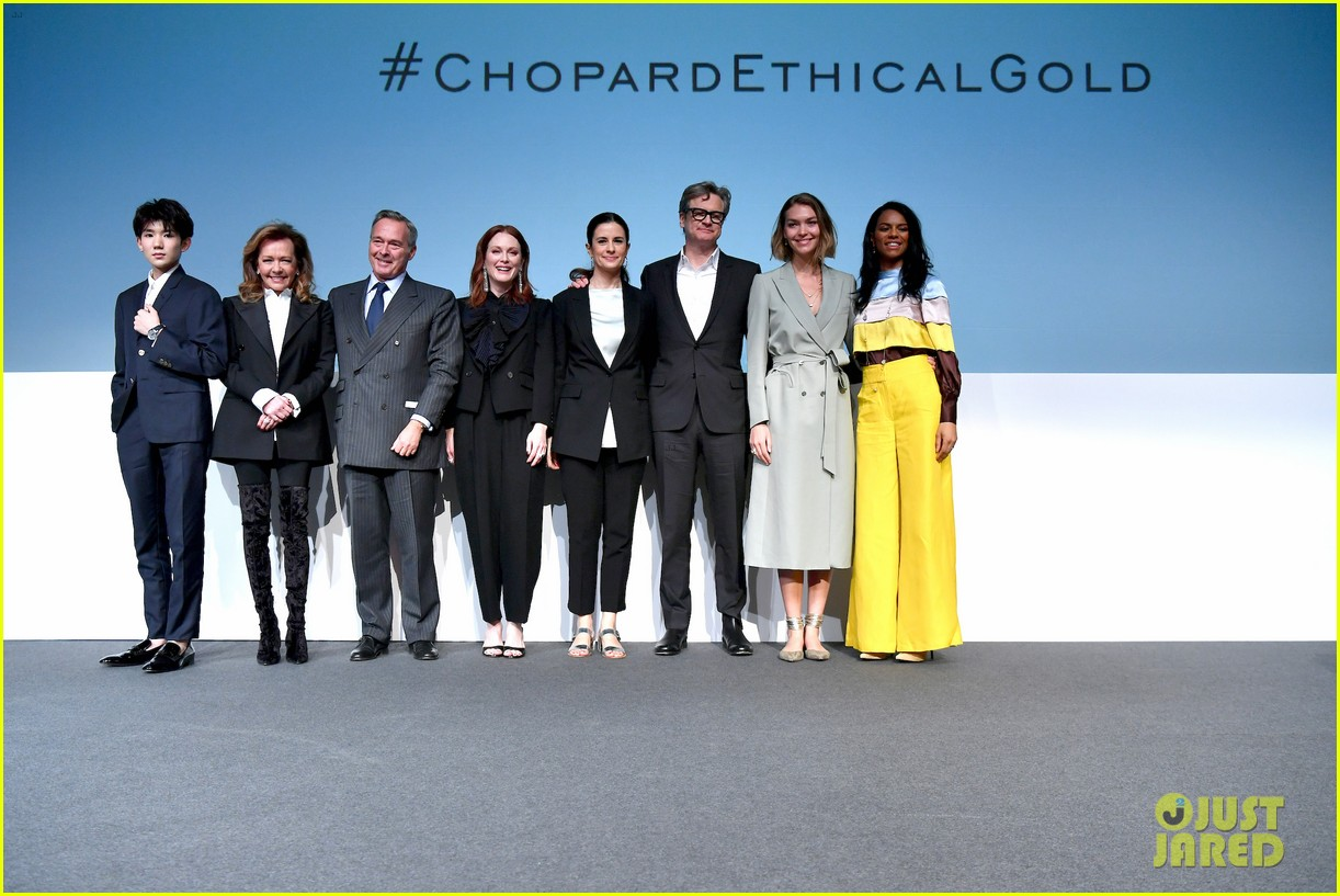 julianne moore colin firth help chopard announce 100 ethical gold pledge at baselworld 014054895
