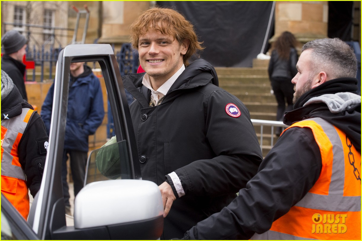 sam heughan outlander set 034050646