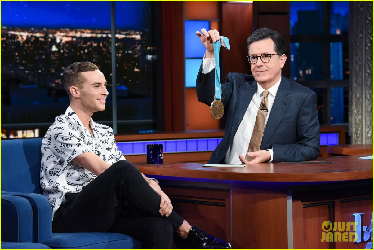 adam rippon tells stephen colbert he would talk to mike pence post olympics 054047887