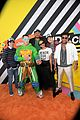 patrick schwarzenegger and kat graham hit the kids choice awards orange carpet 41