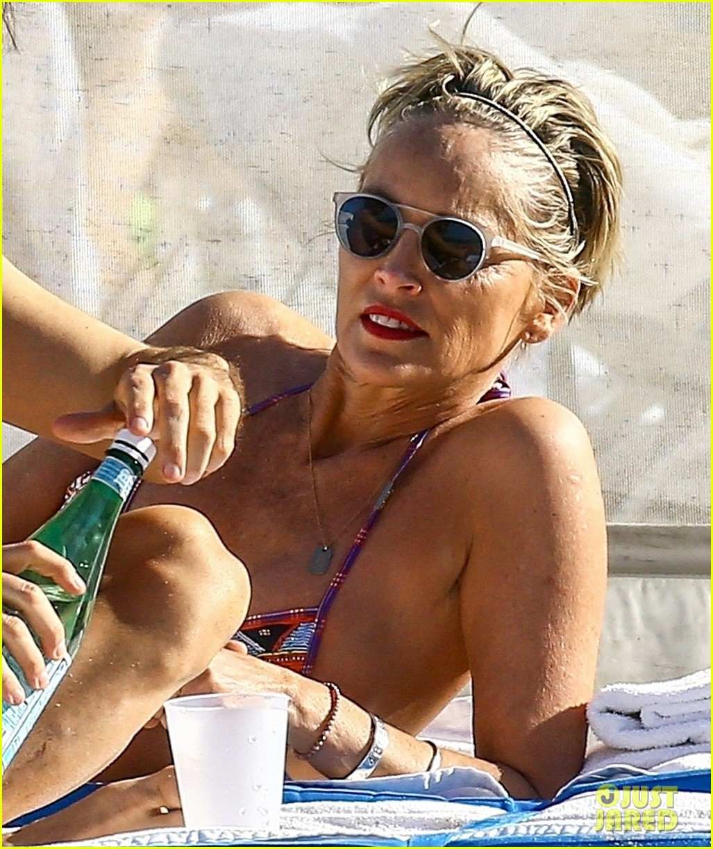 Sharon Stone Celebrates 60th Birthday In A Bikini With Her