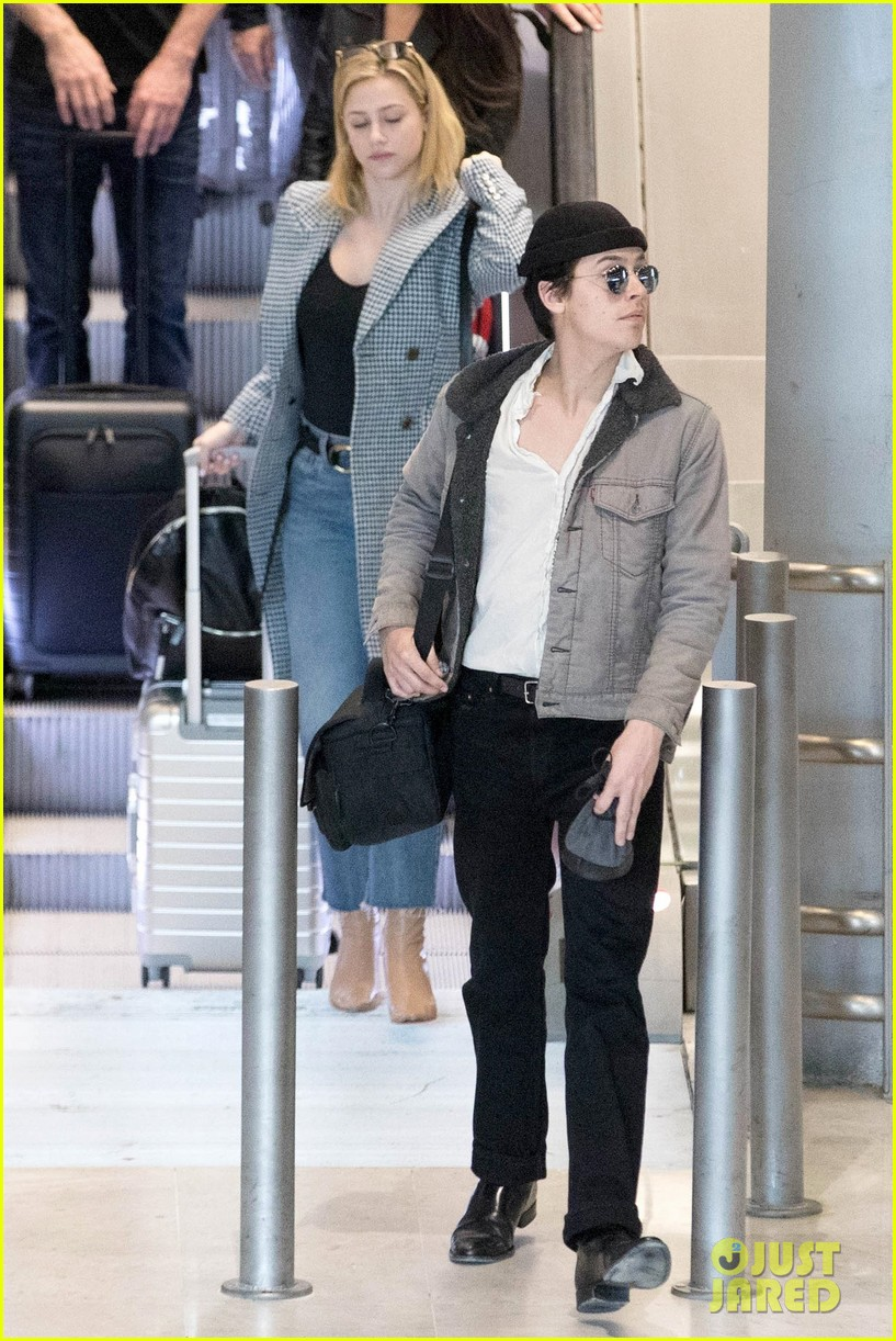 Cole Sprouse & Lili Reinhart Touch Down in Paris After ...