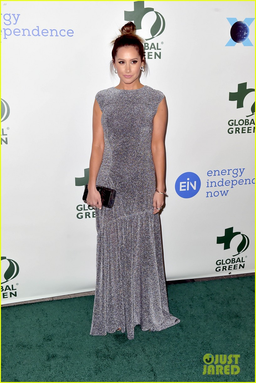 ashley tisdale charlotte mckinney more step out for global green pre oscar gala 484041339