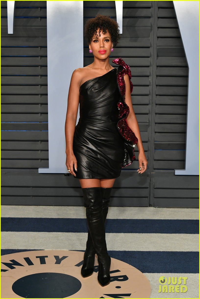 kerry washington goes sexy in leather for vanity fairs