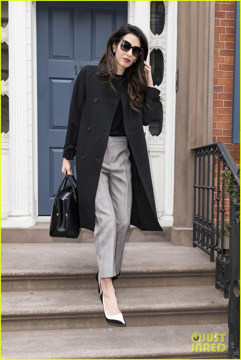 amal clooney rocks three chic looks while out in new york city