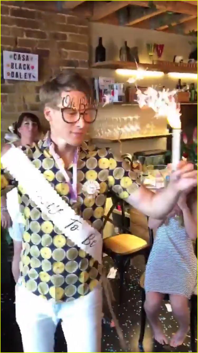 Tom Daley Dustin Lance Black Celebrate Baby Shower in London