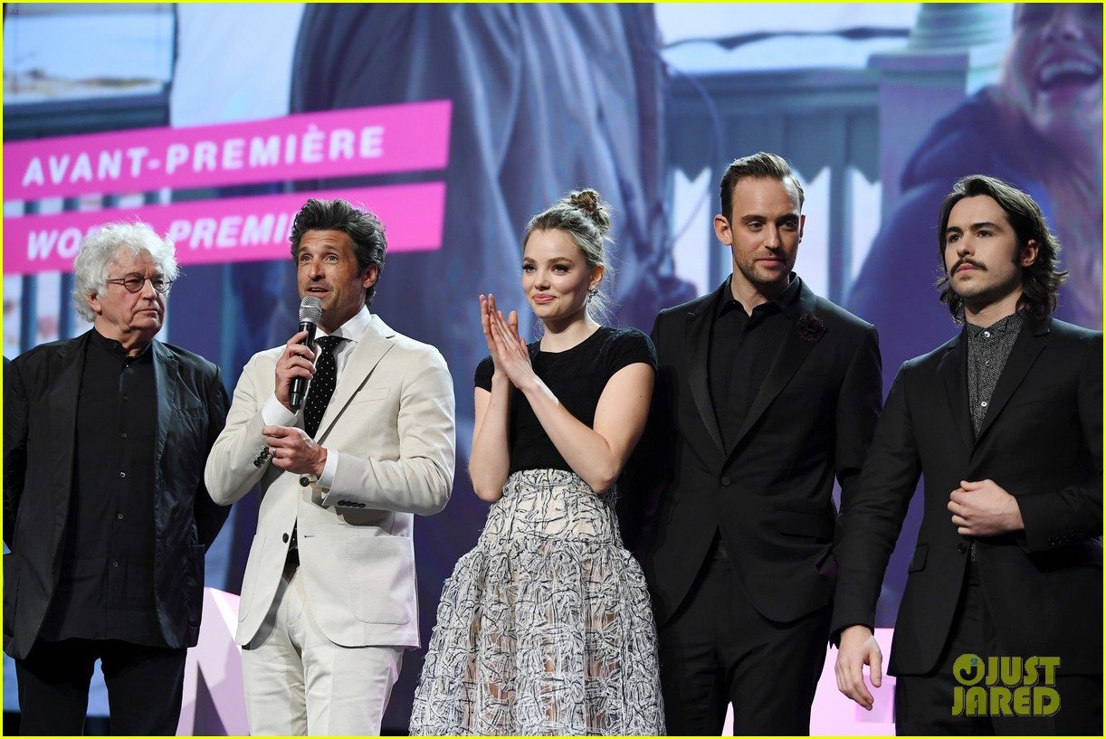 patrick dempsey is joined by wife jillian at 39 the truth about the harry quebert affair 39 premiere. Black Bedroom Furniture Sets. Home Design Ideas