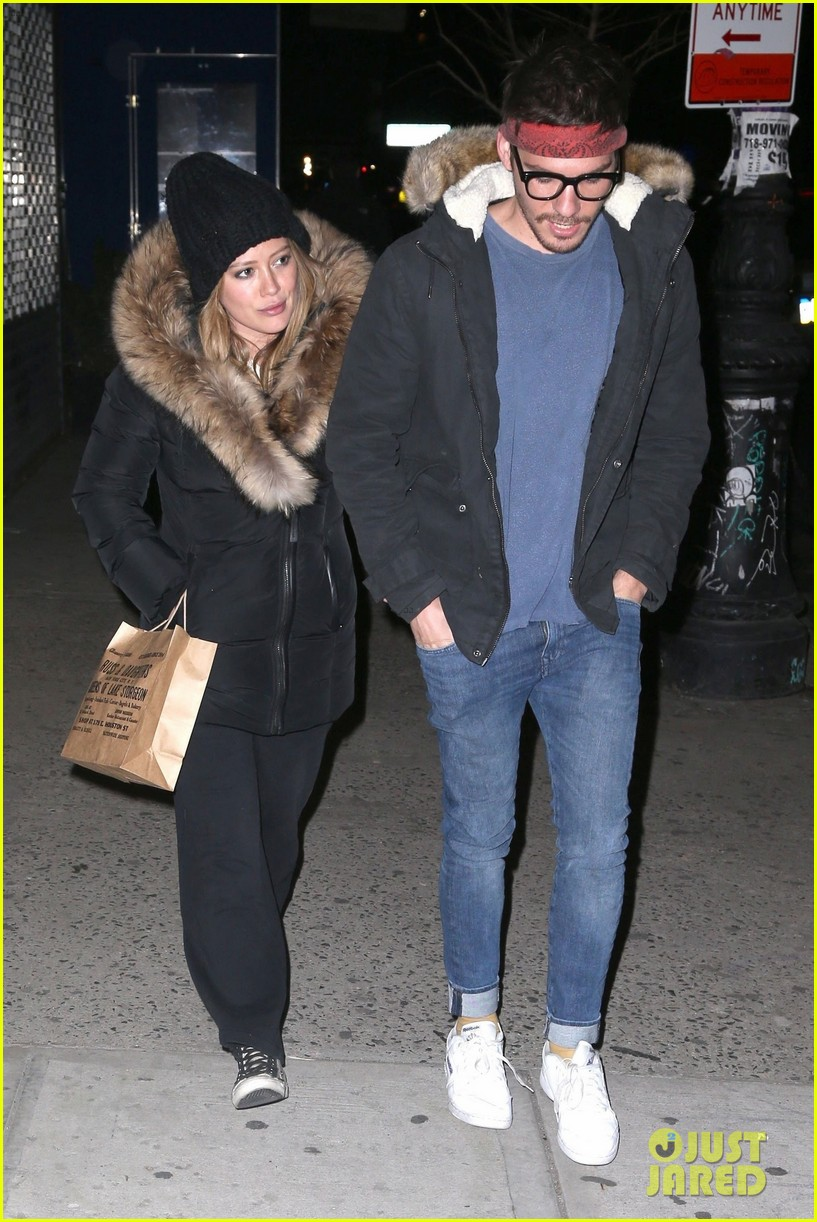 hilary duff matthew koma bundle up for dinner in nyc 014062652