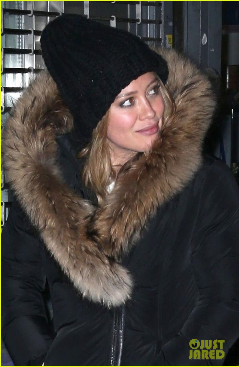 hilary duff matthew koma bundle up for dinner in nyc 024062653