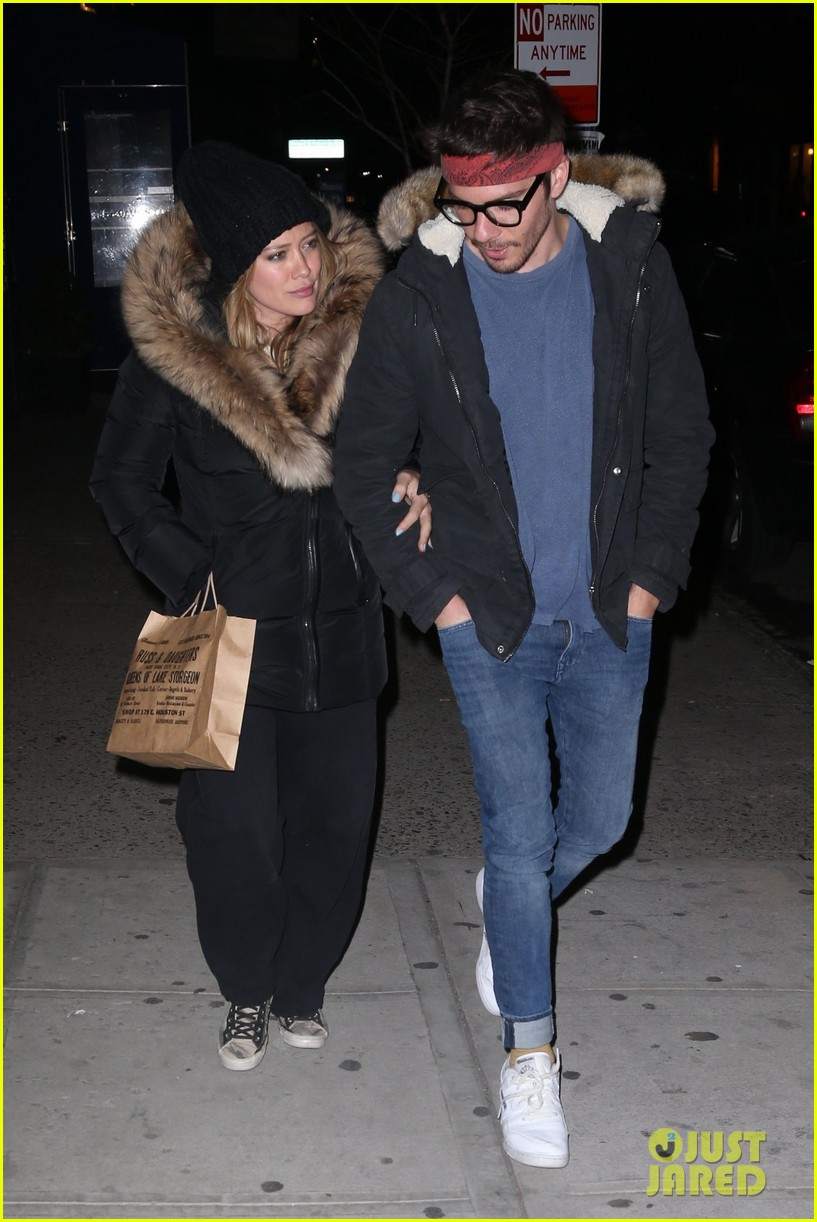 hilary duff matthew koma bundle up for dinner in nyc 034062654