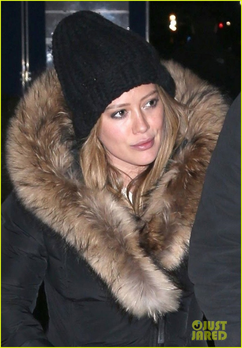 hilary duff matthew koma bundle up for dinner in nyc 044062655