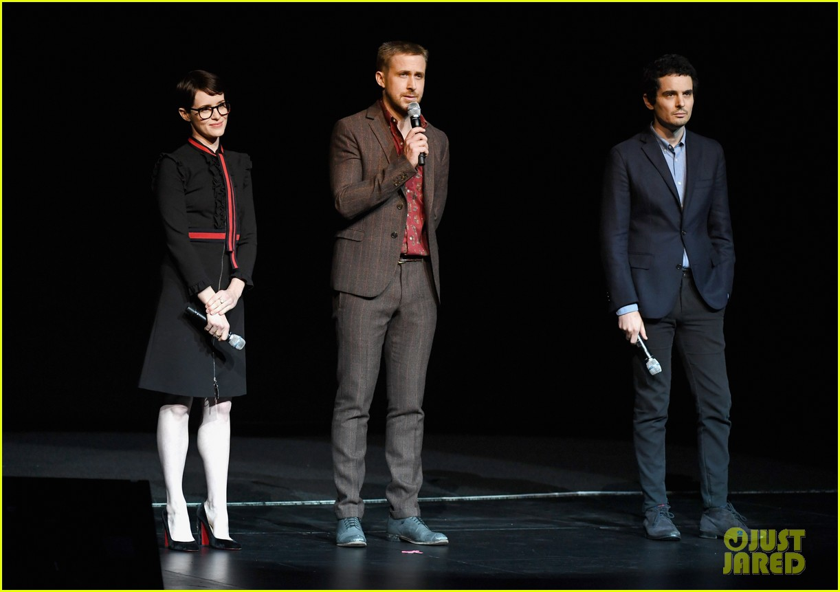 ryan gosling claire foy and damien chazelle talk first man at cinemacon 2018 044072274