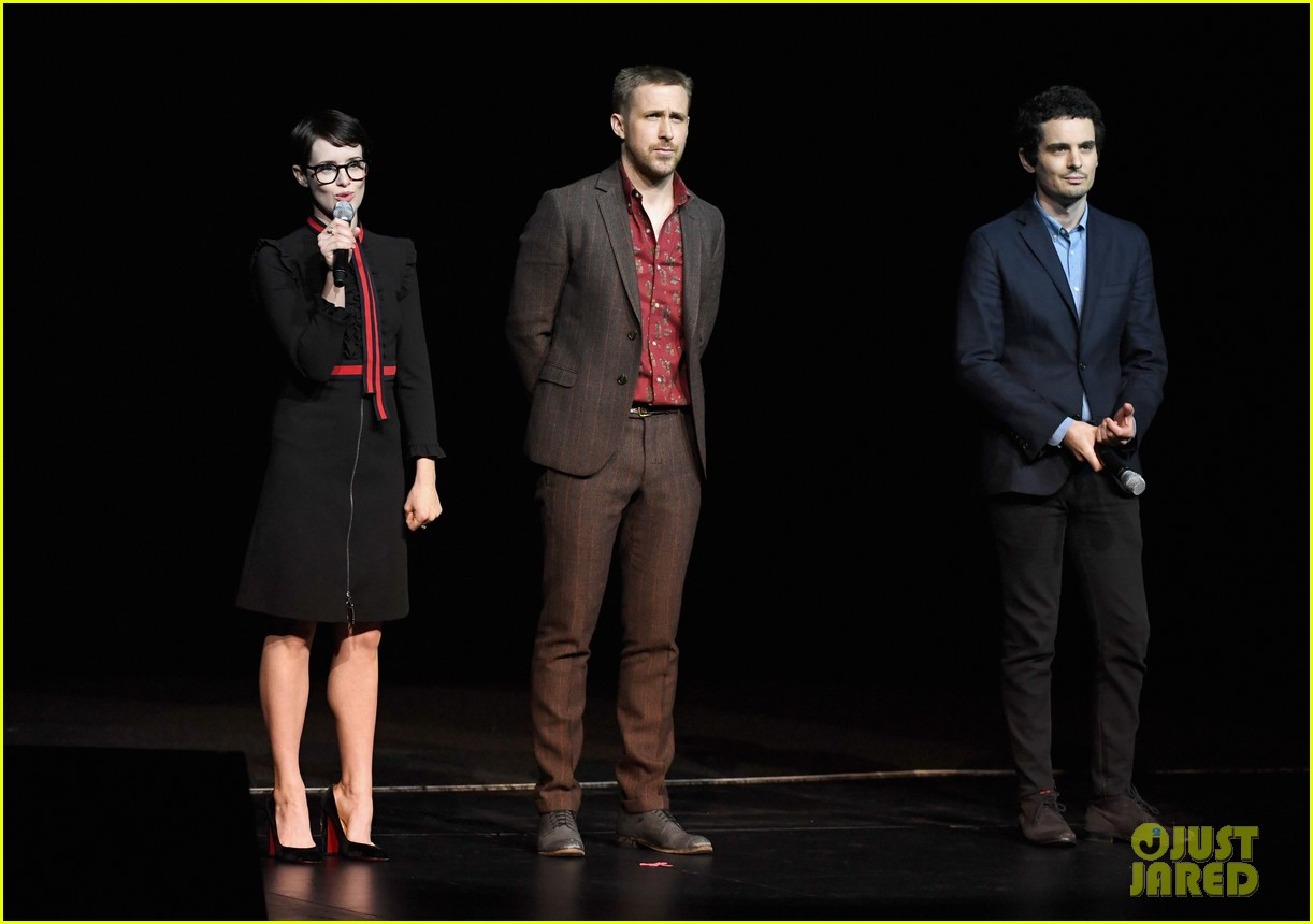 ryan gosling claire foy and damien chazelle talk first man at cinemacon 2018 104072280