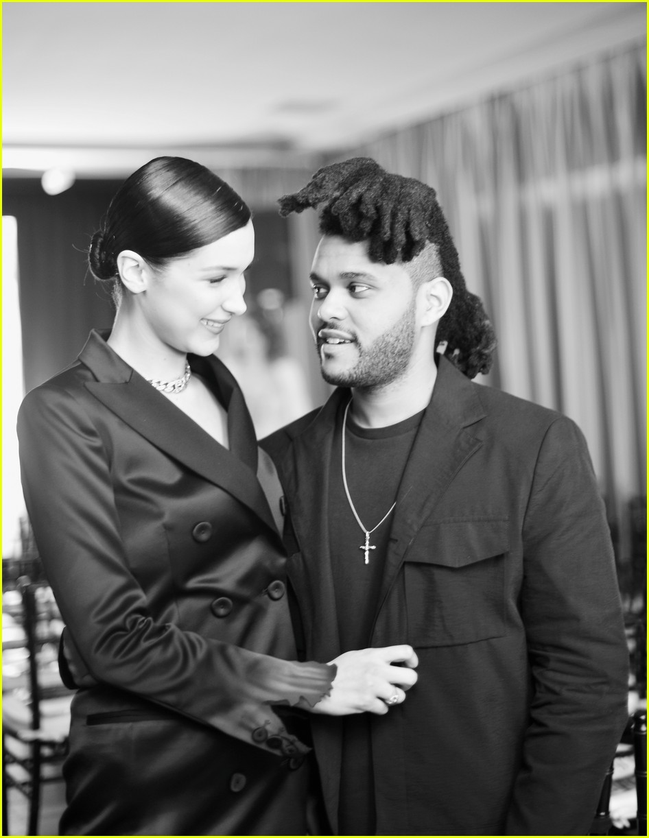 bella hadid denies kissing the weeknd 044065997